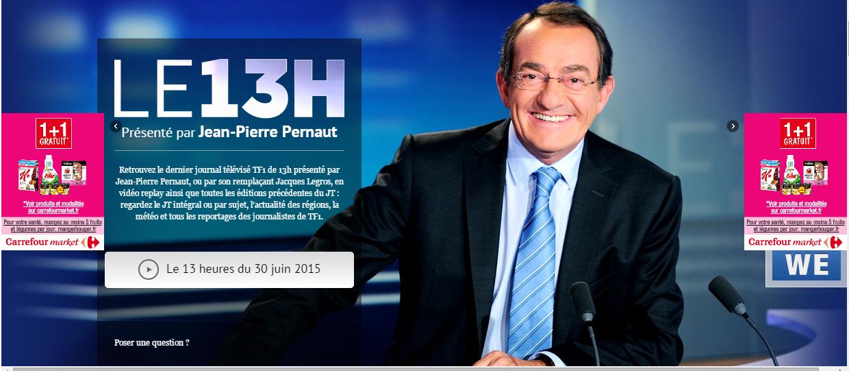 Assistir o Jornal da televisão Francesa.