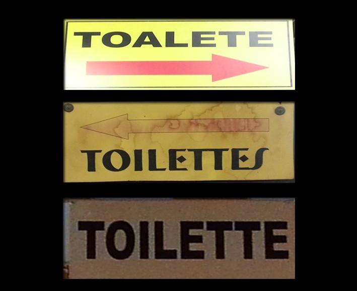 """Mas como deve se escrever """"toalete"""" corretamente (em francês)?"""