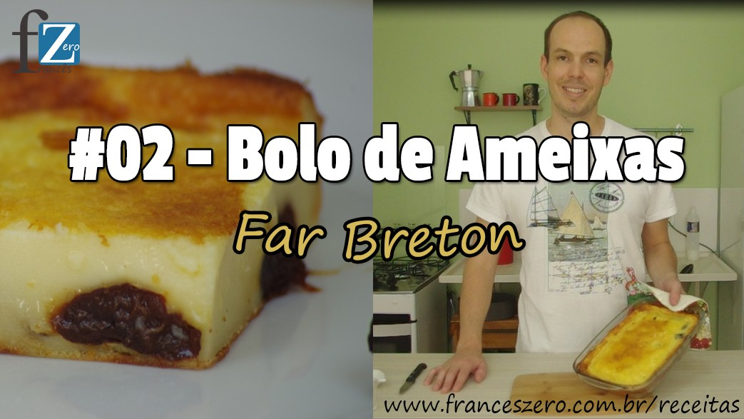 Doce francês de ameixas (Far Breton)
