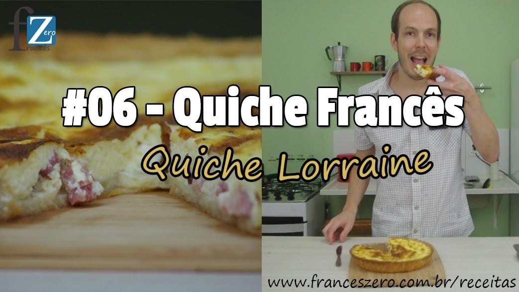 Receita francesa tradicional da Quiche Lorraine