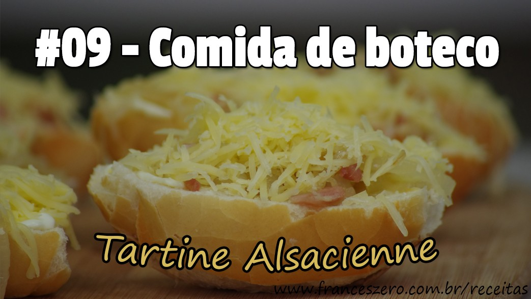 Receita de boteco francês super fácil  (Tartine Alsacienne/Torta flambada/Flammekueche)