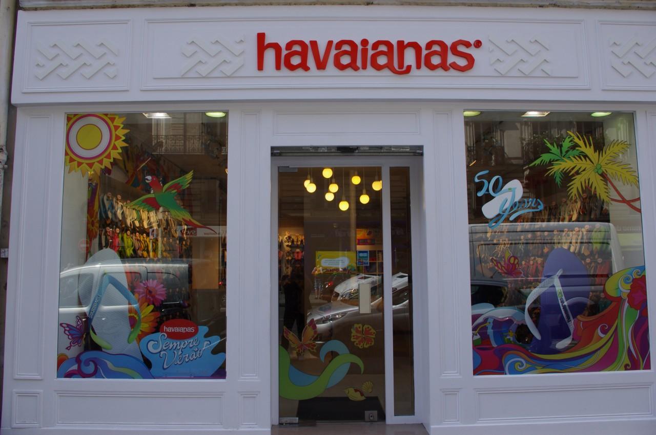 Comercial das Havaianas em francês.