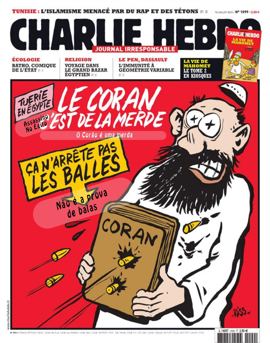 As capas do Charlie Hebdo traduzidas